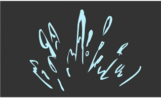 水花喷起来动画效果flas