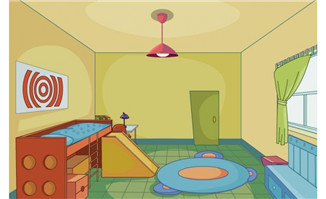 儿童房间上下铺flash动画场