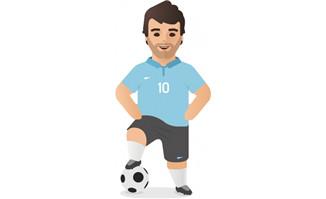 扁平化足球运动员职业人