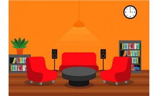 家庭室内房间装饰设计卡通矢量模板素材_flash二维动画素材mg动画制作