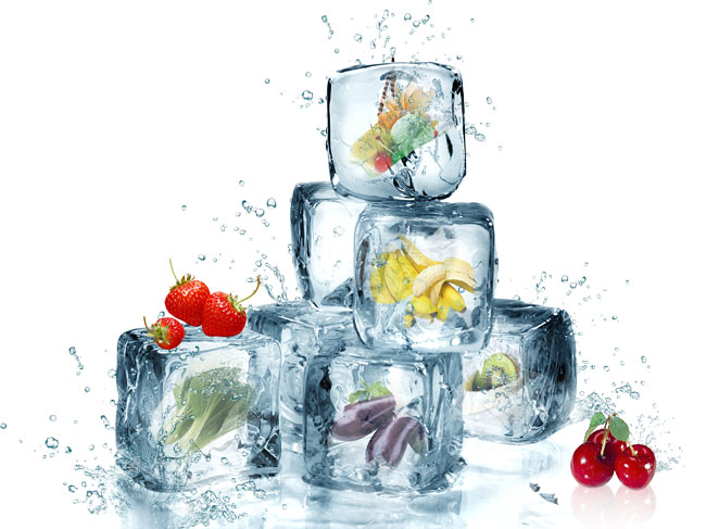 冰块创意水果png免抠图素材