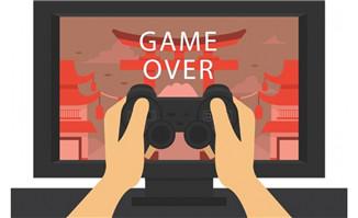 扁平化玩游戏的画面和手