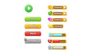一组游戏按钮设计素材