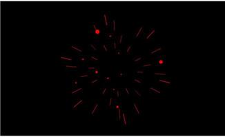 烟花特效由大变小flash动画