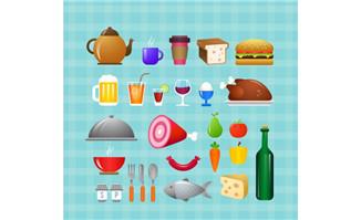 27款卡通食物设计矢量素材