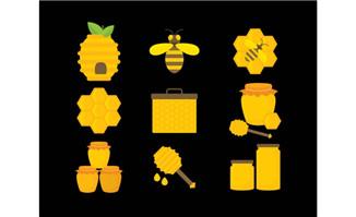 9款精美蜂蜜元素图标设计