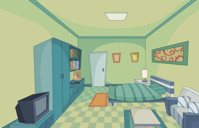 卧室场景设计flash动画制作场景素材下载