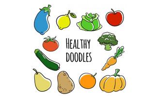 12款卡通蔬菜水果矢量素材