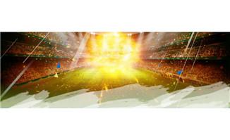 梦幻足球比赛现场背景