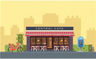 快餐店扁平化动画短片素