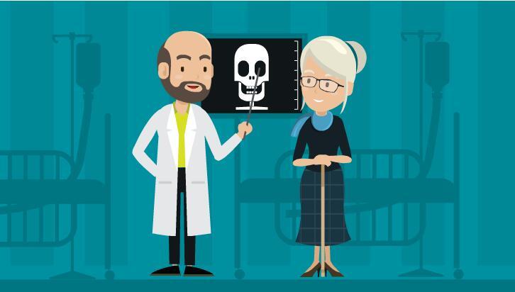 医生 老奶奶  医院  就诊  flash扁平化动画短片  flash创意mg动画