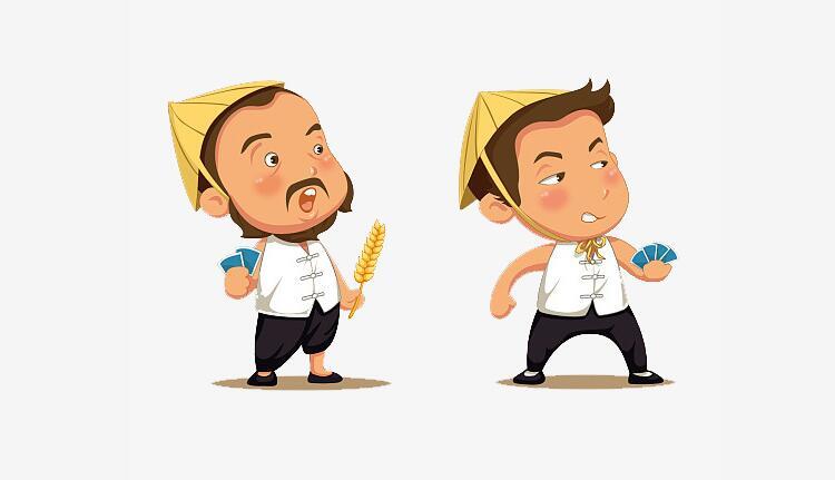 农村农民卡通形象设计图片素材