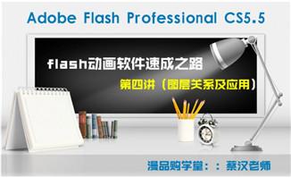 FlashCS5.5软件课程学习第四讲图层的应用及关系