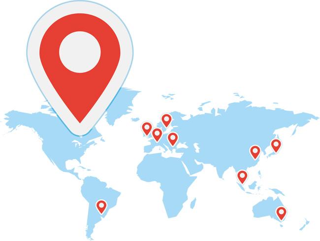 欧洲地图 美洲地图 300dpi 定位地图免抠 地图矢量 地图定位 矢量地图