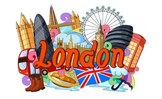 伦敦建筑物海报旅游设计