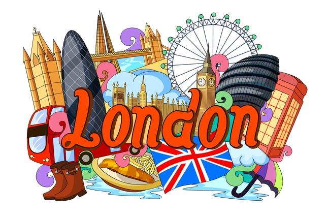 伦敦建筑物海报旅游设计矢量图素材下载_漫品购_mg动画短片素材_flash