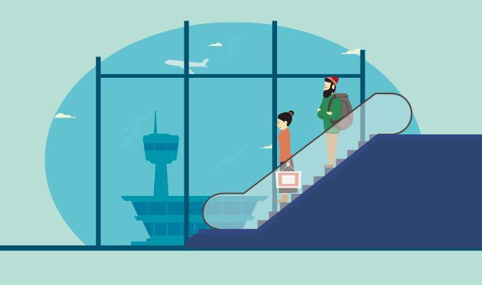 在机场的漫画图片大全 漫画机场素材场景图片