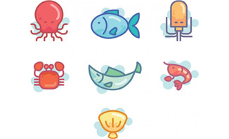 简笔画卡通海里动物矢量图_flash二维动画素材mg动画制作矢量图素材