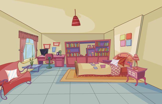 卧室场景设计flash动画制作素材下载