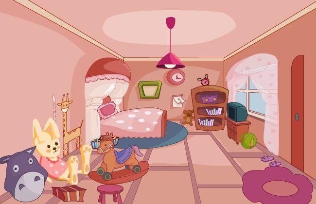 儿童房间布局flash动画制作场景设计素材下载