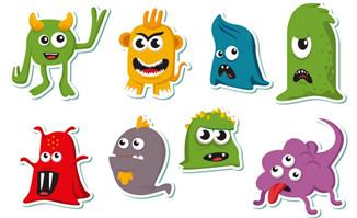 菌群动漫卡通形象设计矢