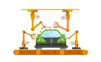 智能机器人维修汽车店扁