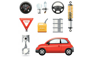 汽车各种零件设计图素材