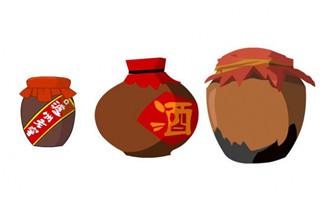 酒陶瓷罐子flash二维动画道