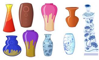 中国风陶瓷陶器瓶青花瓷