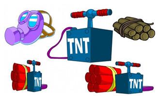 flash二维动画雷管炸药道具