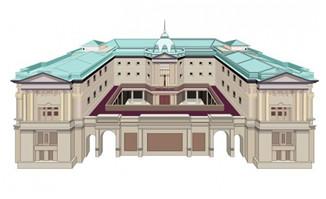 豪华宫殿设计场景建筑物