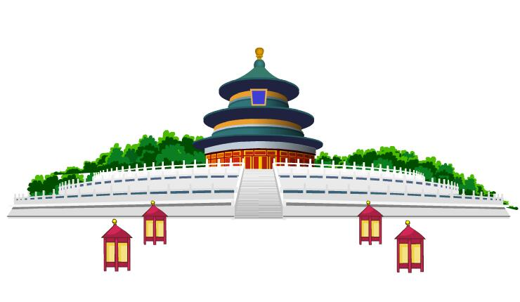 北京故宫天坛建筑场景设计flash动画素材下载图片