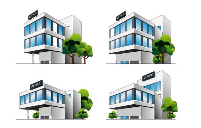 主页 flash素材 二维场景道具 > 玻璃楼房建筑房屋素材二维独栋别墅