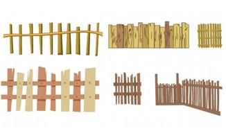 木桩围栏小院木头围栏农