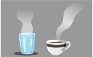 杯子里面的咖啡与开水冒热气的flash小动画效果素