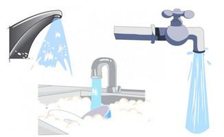 各种水龙头流水效果二维动画小短片素材