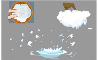 洗衣水盆肥皂泡洗衣的盆子各种效果动画短片素