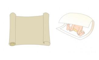 <b>纸卷地图打开展开纸飘动效果flash动画素材</b>