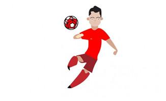 MG动画人物足球射门的动作