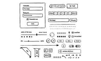 手绘按钮UI界面设计素材