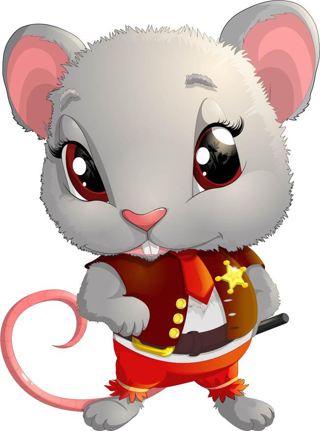 老鼠动漫形象设计  矢量老鼠卡通形象设计   动漫形象老鼠设计素材