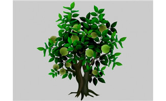 橄榄树植物树木flash动画动