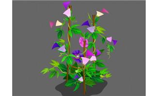 牵牛花植物素材flash动画动