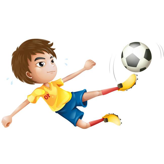 世界杯分组图_少年儿童飞起来踢足球的动作矢量素材下载_漫品购_MG动画短片 ...