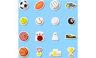 各种体育运动主题元素贴