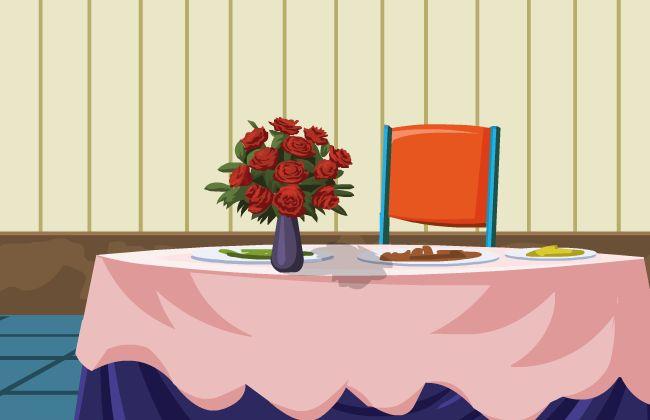 饭馆的餐桌布置场景设计flash动画场景素材下载