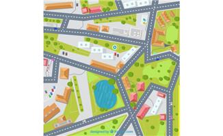 卫星地图立体街道位置矢