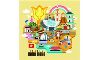 香港地图建筑特征旅游地