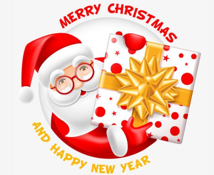 2018年圣诞老人拿礼物头像logo设计素材_flash二维mg.
