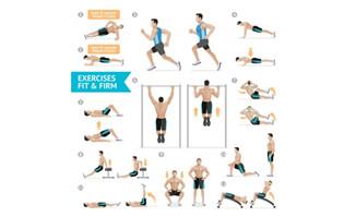 单杠腹部练习健身运动动